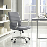 Modway Modern Finesse Mid Back Adjustable Computer Office Chair - Minimal & Modern - 20