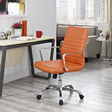 Modway Modern Finesse Mid Back Adjustable Computer Office Chair - Minimal & Modern - 16