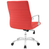 Modway Modern Finesse Mid Back Adjustable Computer Office Chair - Minimal & Modern - 11