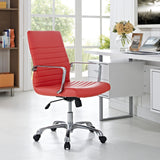 Modway Modern Finesse Mid Back Adjustable Computer Office Chair - Minimal & Modern - 12