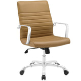 Modway Modern Finesse Mid Back Adjustable Computer Office Chair - Minimal & Modern - 5