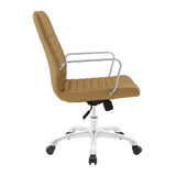 Modway Modern Finesse Mid Back Adjustable Computer Office Chair - Minimal & Modern - 6