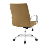 Modway Modern Finesse Mid Back Adjustable Computer Office Chair - Minimal & Modern - 7