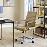 Modway Modern Finesse Mid Back Adjustable Computer Office Chair - Minimal & Modern - 8