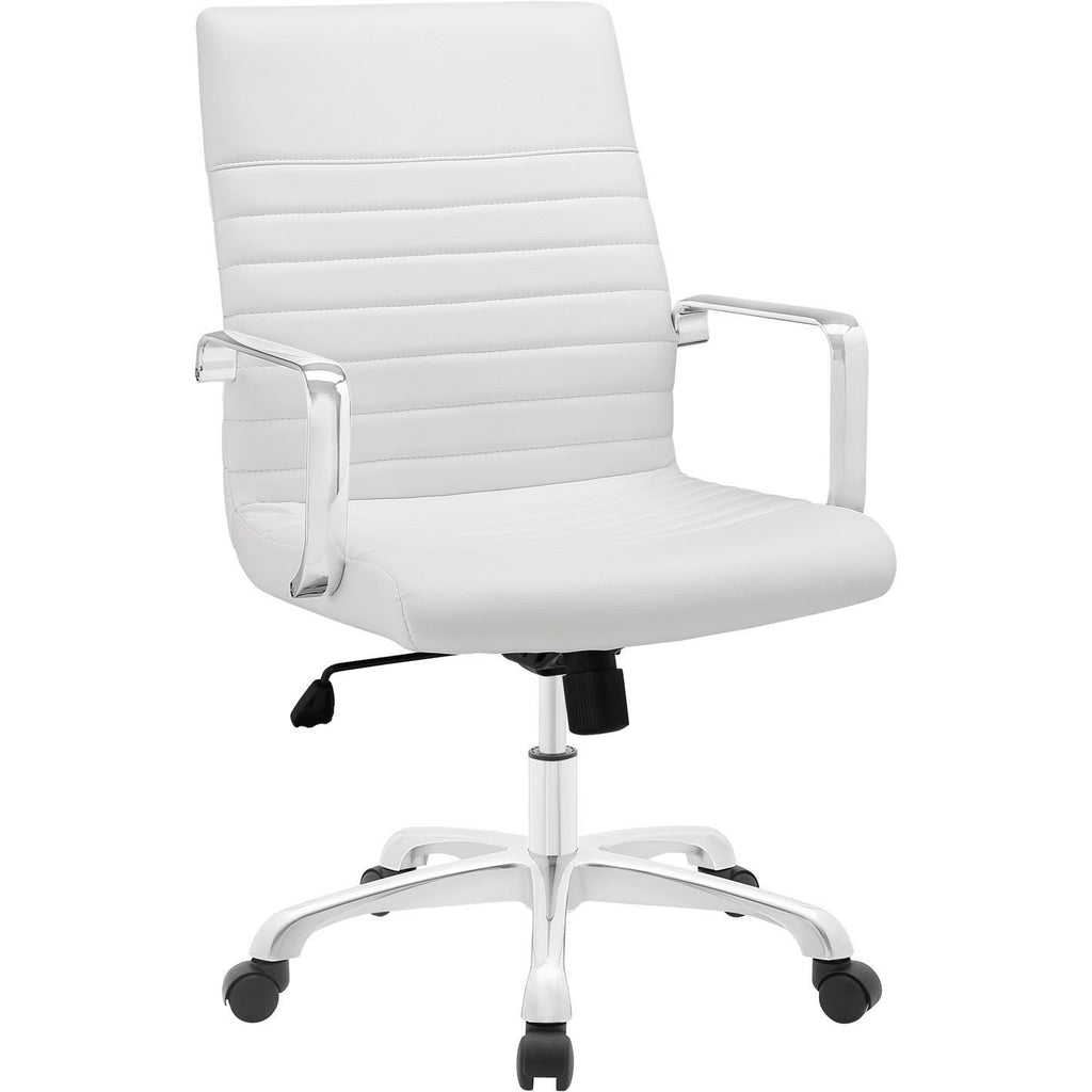 Modway Modern Finesse Mid Back Adjustable Computer Office Chair - Minimal & Modern - 1