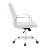 Modway Modern Finesse Mid Back Adjustable Computer Office Chair - Minimal & Modern - 2
