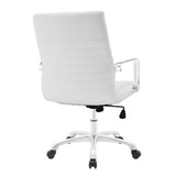Modway Modern Finesse Mid Back Adjustable Computer Office Chair - Minimal & Modern - 3