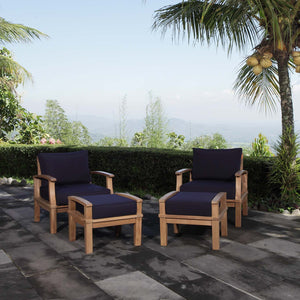 Modway Furniture Modern Marina 4 Piece Outdoor Patio Teak Set - EEI-1537