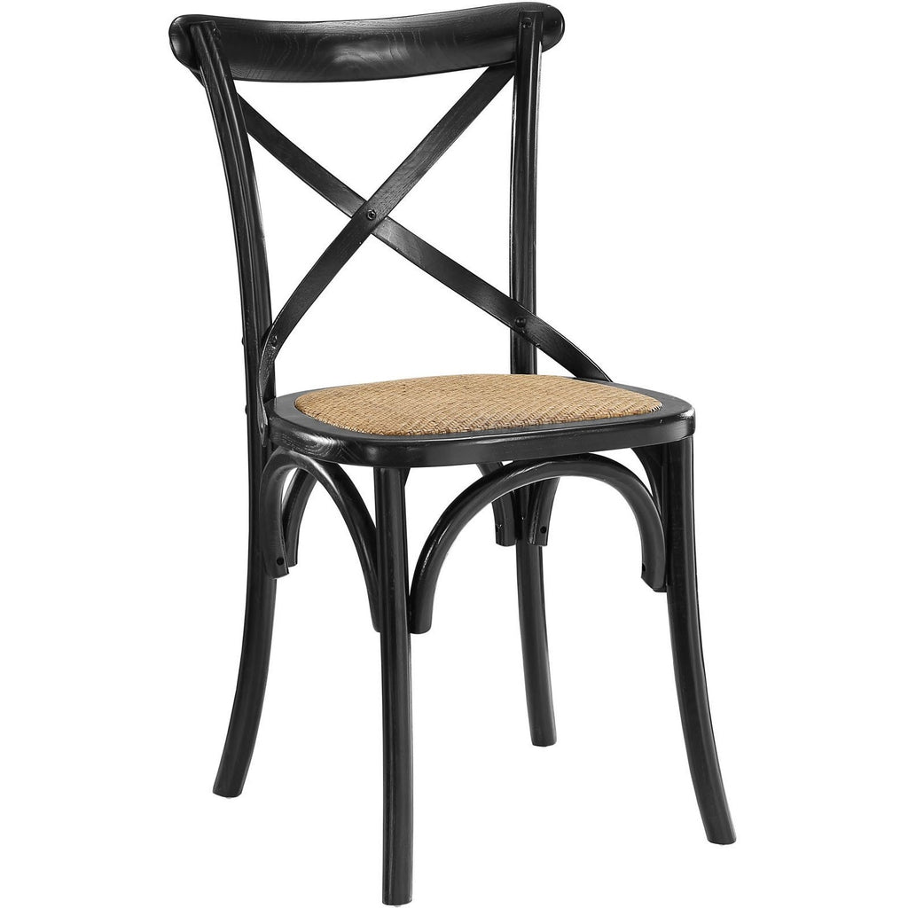Modway Furniture Gear Modern Dining Side Chair Black, Dining Chairs - Modway Furniture, Minimal & Modern - 1