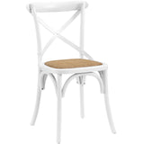 Modway Furniture Gear Modern Dining Side Chair White, Dining Chairs - Modway Furniture, Minimal & Modern - 17