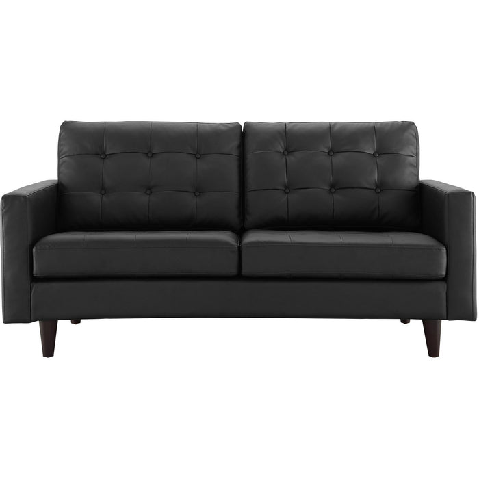 Modway Furniture Empress Bonded Leather Loveseat EEI-1546-Minimal & Modern