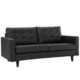 Modway Furniture Empress Bonded Leather Loveseat , Loveseat - Modway Furniture, Minimal & Modern - 2