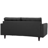 Modway Furniture Empress Bonded Leather Loveseat , Loveseat - Modway Furniture, Minimal & Modern - 3