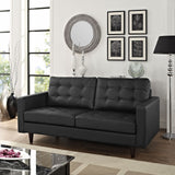 Modway Furniture Empress Bonded Leather Loveseat , Loveseat - Modway Furniture, Minimal & Modern - 4