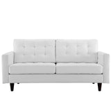 Modway Furniture Empress Bonded Leather Loveseat White, Loveseat - Modway Furniture, Minimal & Modern - 5