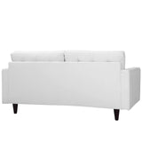Modway Furniture Empress Bonded Leather Loveseat , Loveseat - Modway Furniture, Minimal & Modern - 7