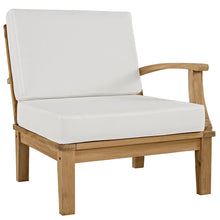 Modway Furniture Modern Marina 6 Piece Outdoor Patio Teak Sofa Set In Natural White EEI-1597-NAT-WHI-SET