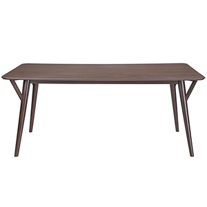 Modway Furniture Brace Modern Walnut Dining Table EEI-1611-WAL-Minimal & Modern