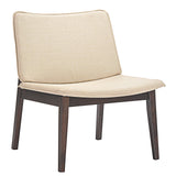 Modway Furniture Modern Evade Lounge Chair Walnut Beige, Chairs - Modway Furniture, Minimal & Modern - 7