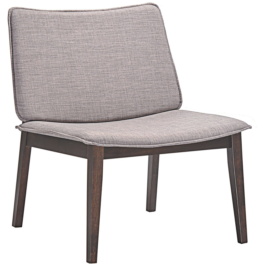 Modway Furniture Modern Evade Lounge Chair Walnut Gray, Chairs - Modway Furniture, Minimal & Modern - 1