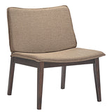 Modway Furniture Modern Evade Lounge Chair Walnut Latte, Chairs - Modway Furniture, Minimal & Modern - 4
