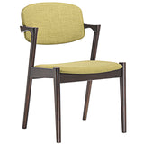 Modway Furniture Spunk Modern Dining Armchair Walnut Green, Dining Chairs - Modway Furniture, Minimal & Modern - 4