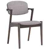 Modway Furniture Spunk Modern Dining Armchair Walnut Gray, Dining Chairs - Modway Furniture, Minimal & Modern - 7