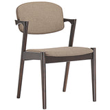 Modway Furniture Spunk Modern Dining Armchair Walnut Latte, Dining Chairs - Modway Furniture, Minimal & Modern - 10