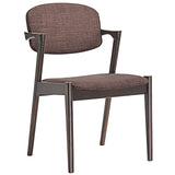 Modway Furniture Spunk Modern Dining Armchair Walnut Mocha, Dining Chairs - Modway Furniture, Minimal & Modern - 13