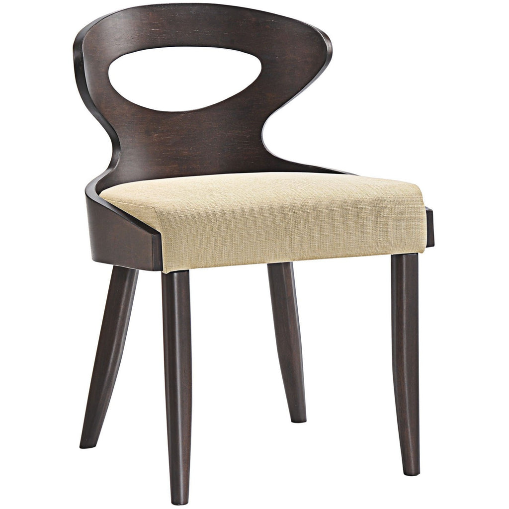 Modway Furniture Transit Modern Dining Side Chair Walnut Beige, Dining Chairs - Modway Furniture, Minimal & Modern - 1