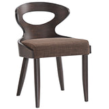 Modway Furniture Transit Modern Dining Side Chair Walnut Brown, Dining Chairs - Modway Furniture, Minimal & Modern - 4