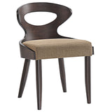 Modway Furniture Transit Modern Dining Side Chair Walnut Latte, Dining Chairs - Modway Furniture, Minimal & Modern - 7