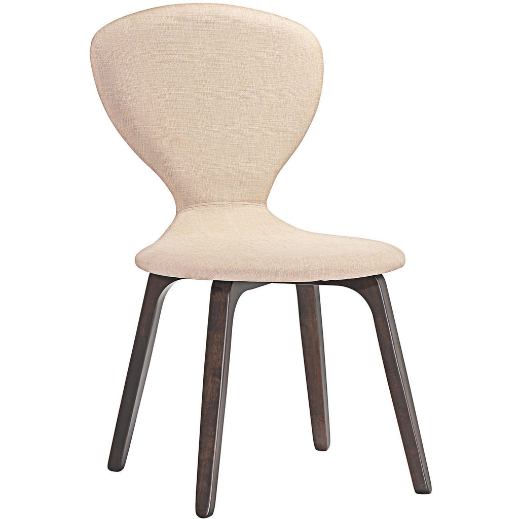 Modway Furniture Tempest Modern Dining Side Chair Walnut Beige, Dining Chairs - Modway Furniture, Minimal & Modern - 1