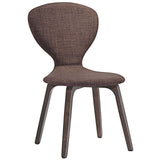 Modway Furniture Tempest Modern Dining Side Chair Walnut Brown, Dining Chairs - Modway Furniture, Minimal & Modern - 4