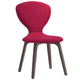 Modway Furniture Tempest Modern Dining Side Chair Walnut Red, Dining Chairs - Modway Furniture, Minimal & Modern - 10