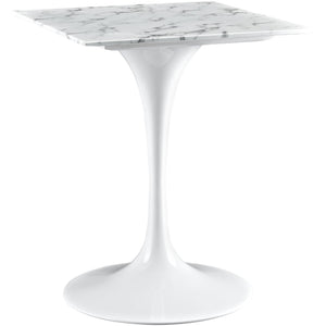 "Modway Furniture Lippa 24"" Marble White Side Table EEI-1634-WHI-Minimal & Modern"