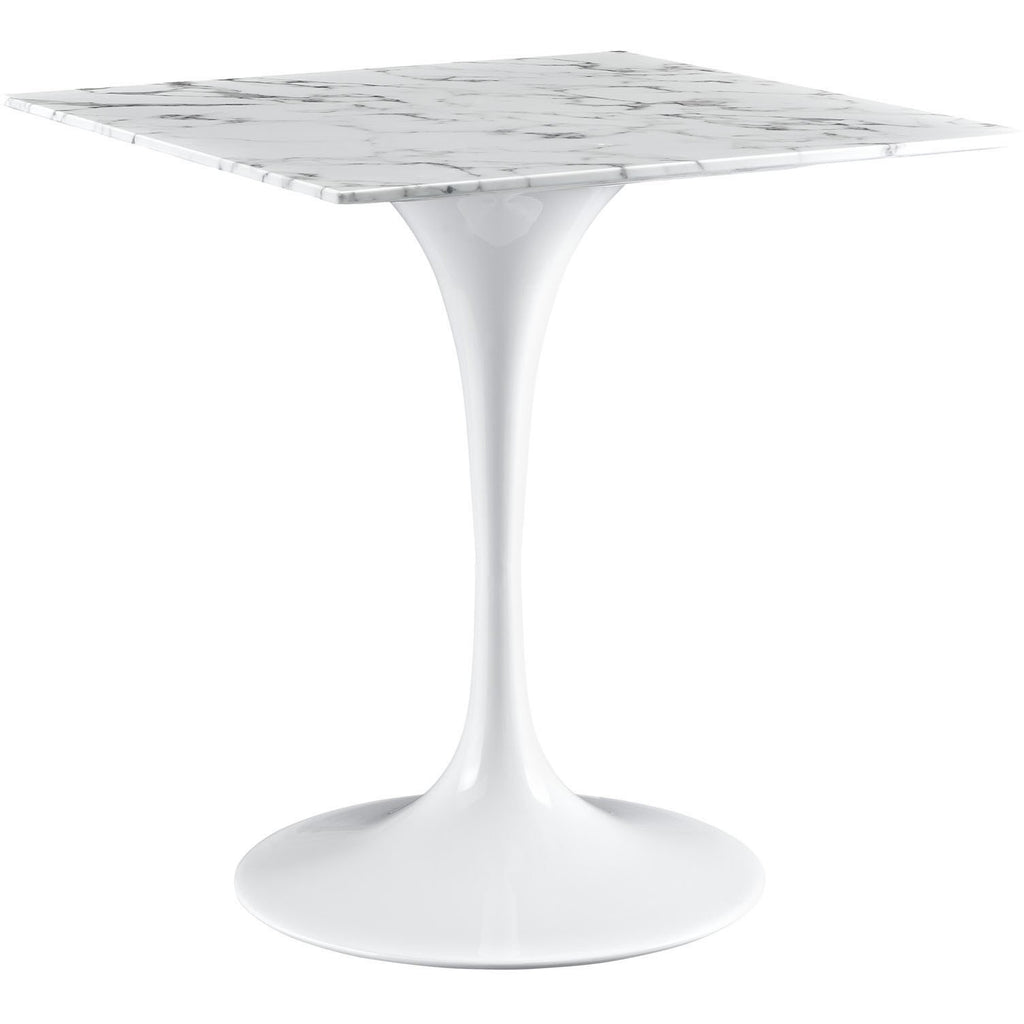 "Modway Furniture Lippa 28"" Marble White Side Table , dining tables - Modway Furniture, Minimal & Modern - 1"