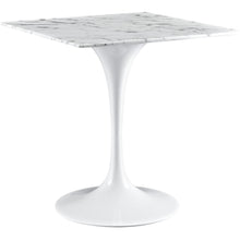 "Modway Furniture Lippa 28"" Marble White Side Table EEI-1635-WHI-Minimal & Modern"