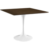 "Modway Furniture Lippa 36"" Modern Walnut Dining Table , dining tables - Modway Furniture, Minimal & Modern - 1"