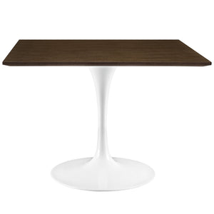 "Modway Furniture Lippa 40"" Modern Walnut Dining Table EEI-1643-WAL-Minimal & Modern"