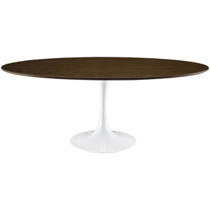 "Modway Furniture Lippa 78"" Wood Modern Walnut Dining Table EEI-1661-WAL-Minimal & Modern"