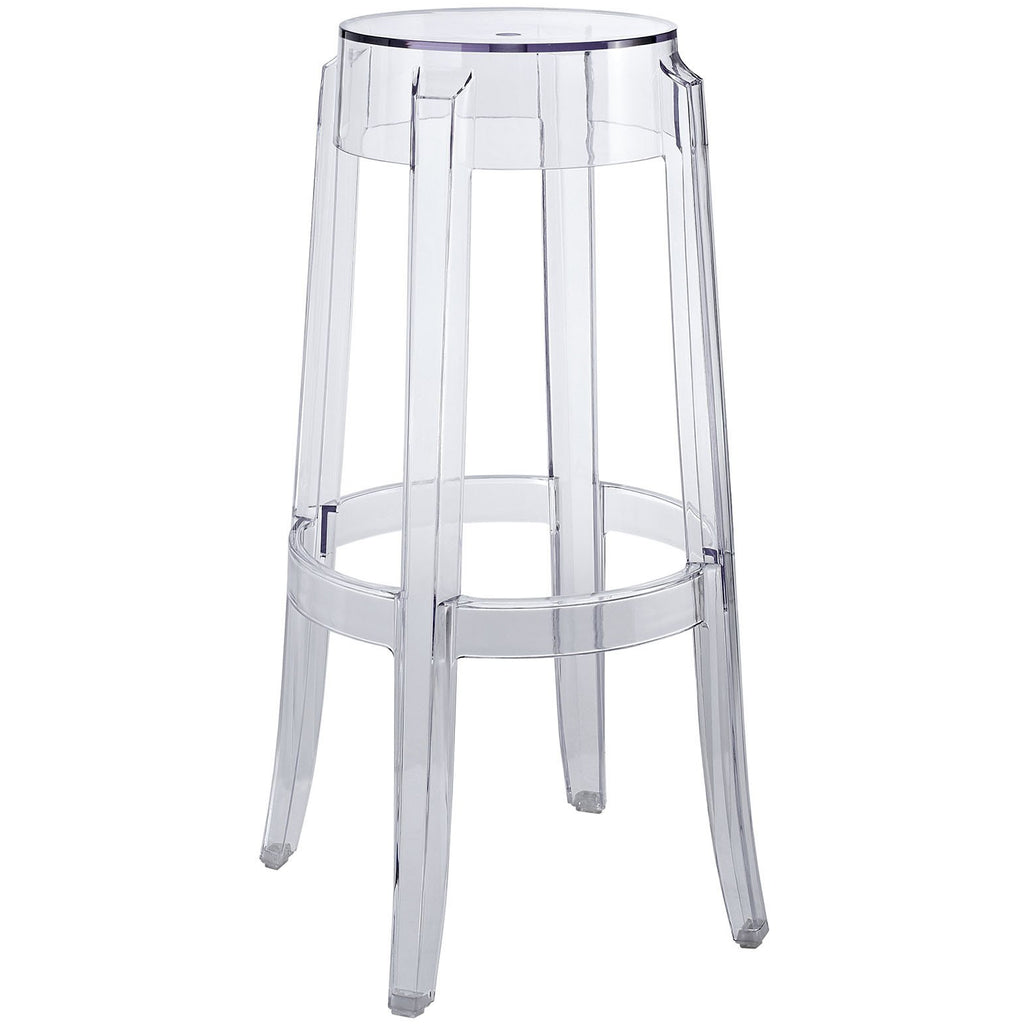 Modway Furniture Casper Modern Bar Stool Clear, Bar Stools - Modway Furniture, Minimal & Modern - 1