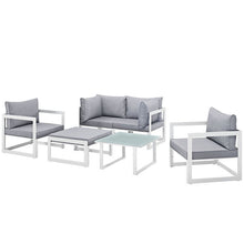 Modway Furniture Modern Fortuna 6 Piece Outdoor Patio Sectional Sofa Set EEI-1723-Minimal & Modern