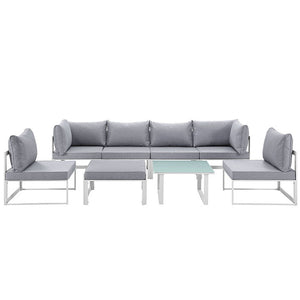 Modway Furniture Modern Fortuna 8 Piece Outdoor Patio Sectional Sofa Set EEI-1728-Minimal & Modern