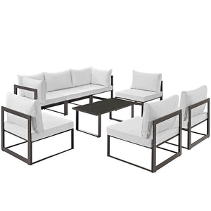 Modway Furniture Modern Fortuna 8 Piece Outdoor Patio Sectional Sofa Set EEI-1730-Minimal & Modern