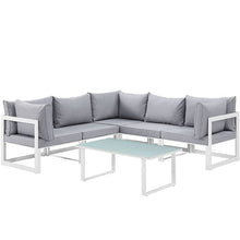 Modway Furniture Modern Fortuna 6 Piece Outdoor Patio Sectional Sofa Set EEI-1732-Minimal & Modern