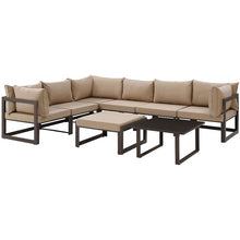 Modway Furniture Modern Fortuna 8 Piece Outdoor Patio Sectional Sofa Set EEI-1735-Minimal & Modern