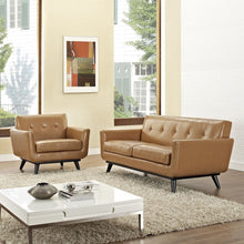 Modway Furniture Modern Engage 2 Piece Leather Living Room-Minimal & Modern