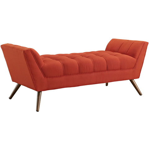 Modway Furniture Modern Response Medium Fabric Bench Atomic Red, Benches - Modway Furniture, Minimal & Modern - 1