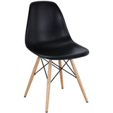 Modway Furniture Pyramid Modern Dining Side Chair Black, Dining Chairs - Modway Furniture, Minimal & Modern - 1